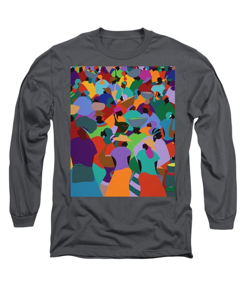 Les Palmes Market Haiti Long Sleeve T-Shirt