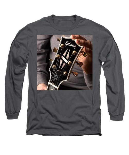Les Paul - Hands And Gibson Headstock By Gene Martin Long Sleeve T-Shirt
