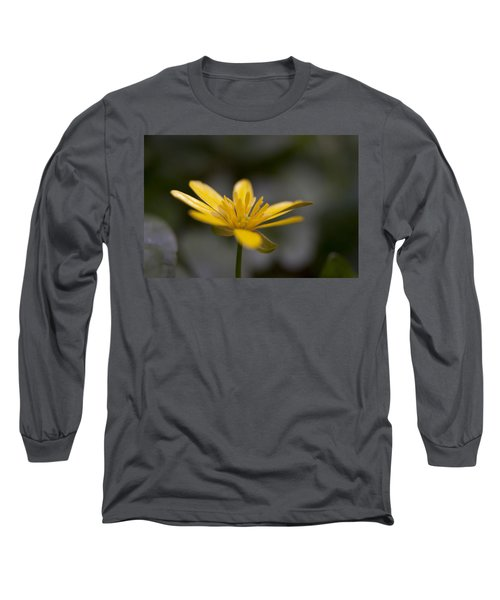 Long Sleeve T-Shirt featuring the photograph Lesser Celandine by Karen Van Der Zijden