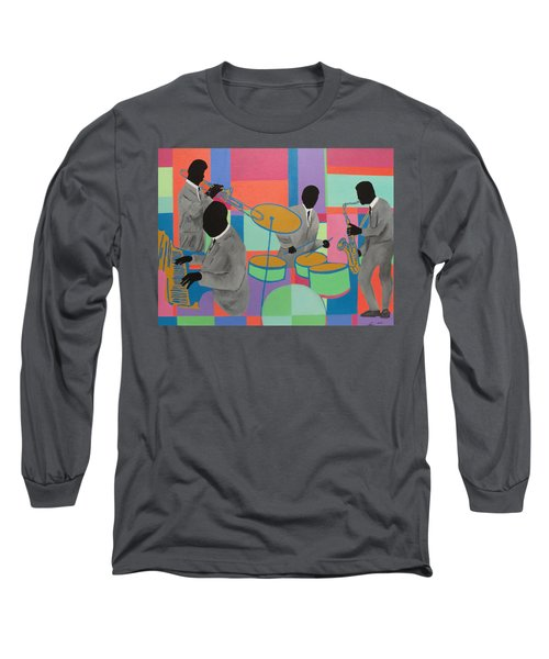 Let The Band Play Long Sleeve T-Shirt by Angelo Thomas