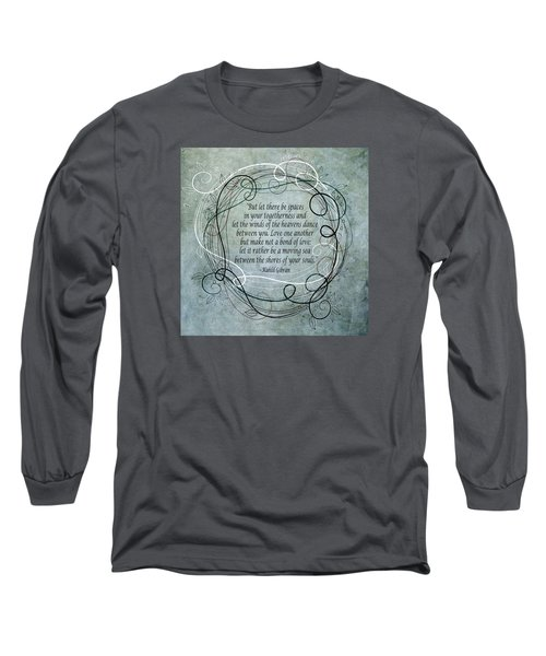 Long Sleeve T-Shirt featuring the digital art Let There Be Spaces by Angelina Vick