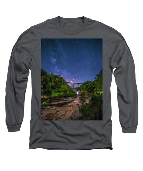 Letchworth At Night Long Sleeve T-Shirt by Mark Papke