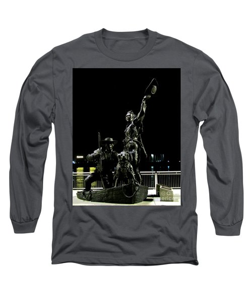 Lewis And Clark Arrive At Laclede's Landing Long Sleeve T-Shirt by Kelly Awad