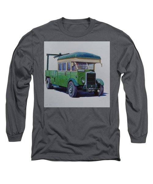 Leyland Southdown Wrecker. Long Sleeve T-Shirt by Mike Jeffries