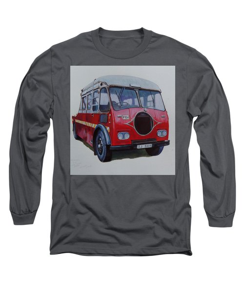 Long Sleeve T-Shirt featuring the painting Leyland Wrecker Cie by Mike Jeffries