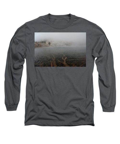 Long Sleeve T-Shirt featuring the photograph Liberty Lake In Fog by Jenessa Rahn