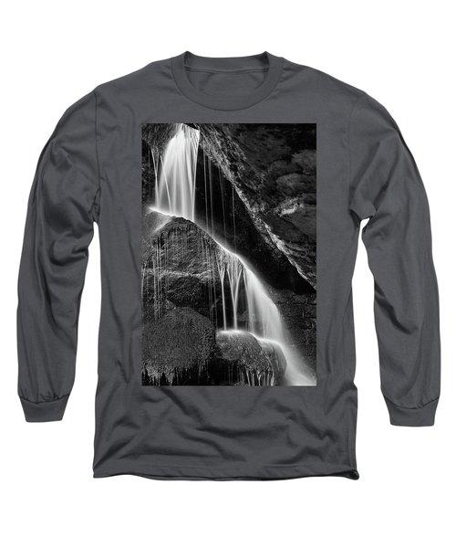 Lichtenhain Waterfall - Bw Version Long Sleeve T-Shirt