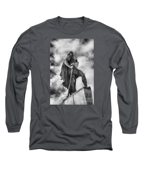 Long Sleeve T-Shirt featuring the photograph Lief Ericsson Reykjavik by Rick Bragan