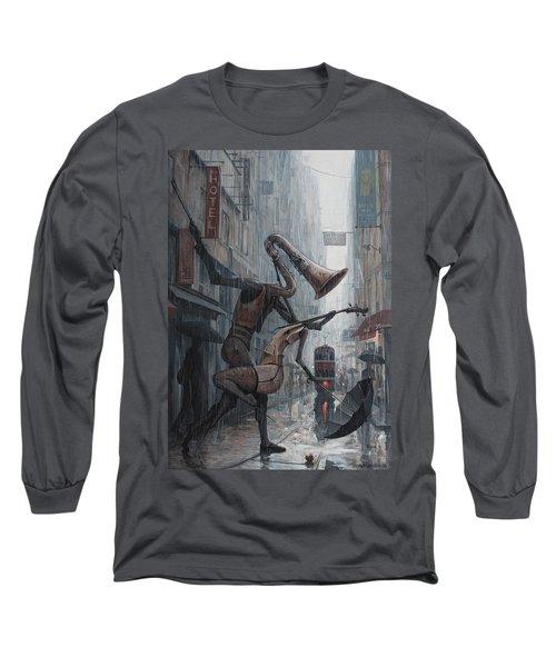 Life Is  Dance In The Rain Long Sleeve T-Shirt