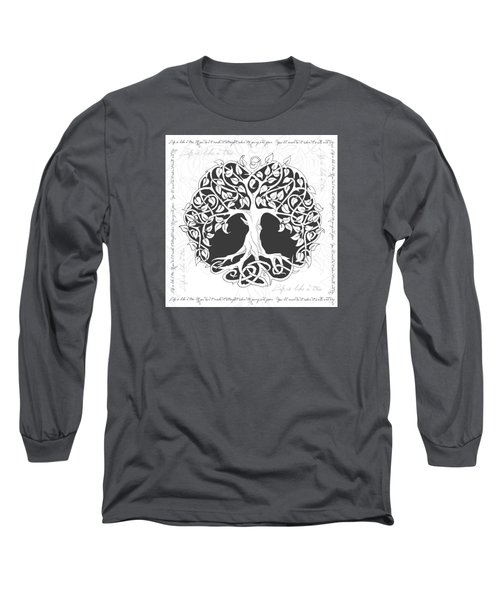 Long Sleeve T-Shirt featuring the digital art Life Tree. Life Is Like A Tree by Gina Dsgn