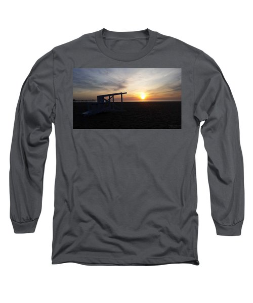 Lifeguard Stand And Sunrise Long Sleeve T-Shirt