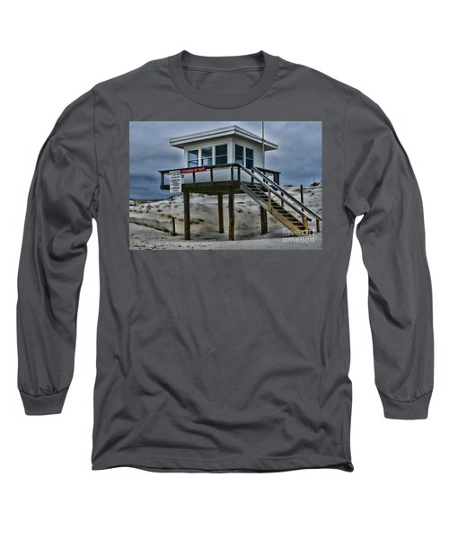 Long Sleeve T-Shirt featuring the photograph Lifeguard Station 2  by Paul Ward