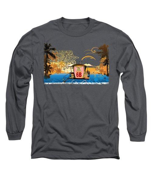 Lifeguard Station 6b Long Sleeve T-Shirt by Paulette B Wright