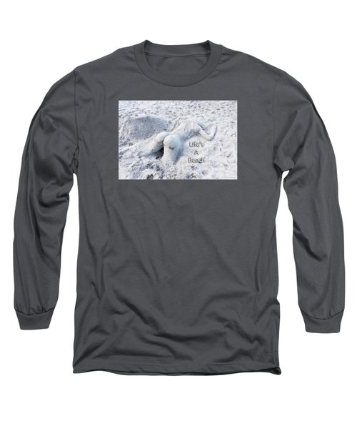 Life's A Beach By Sharon Cummings Long Sleeve T-Shirt by Sharon Cummings