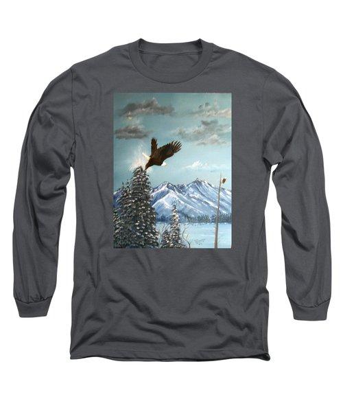 Lift Off Long Sleeve T-Shirt by Al  Johannessen