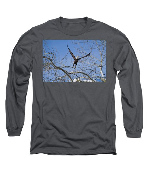 Long Sleeve T-Shirt featuring the photograph Lift Off by Jim  Hatch