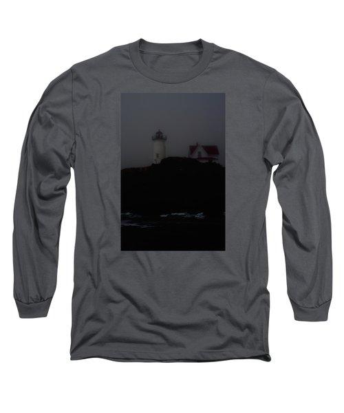 Long Sleeve T-Shirt featuring the photograph Lifting Fog Near Perkin's Cove by Richard Ortolano