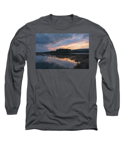 Light And Dark Long Sleeve T-Shirt by Angelo Marcialis
