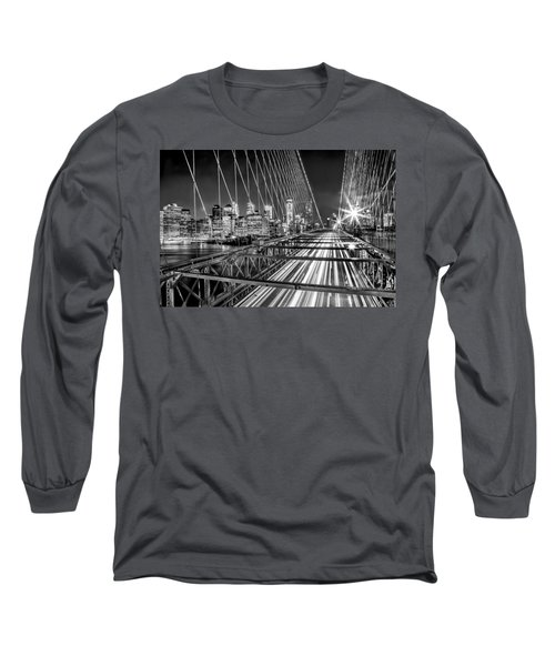 Light Trails Of Manhattan Long Sleeve T-Shirt by Az Jackson