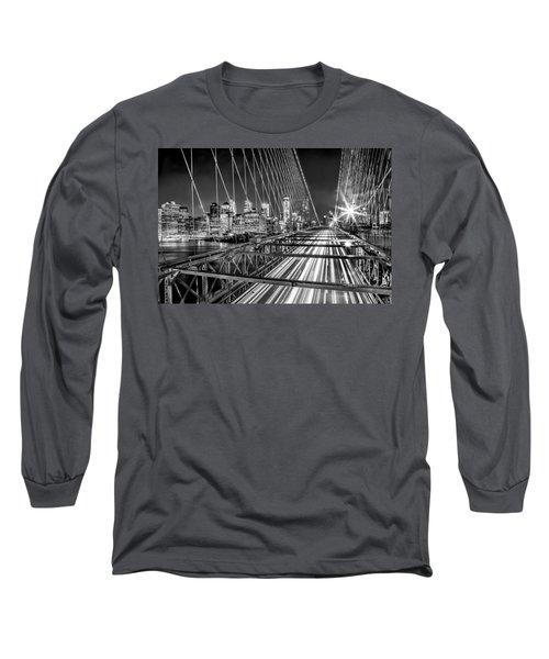 Light Trails Of Manhattan Long Sleeve T-Shirt
