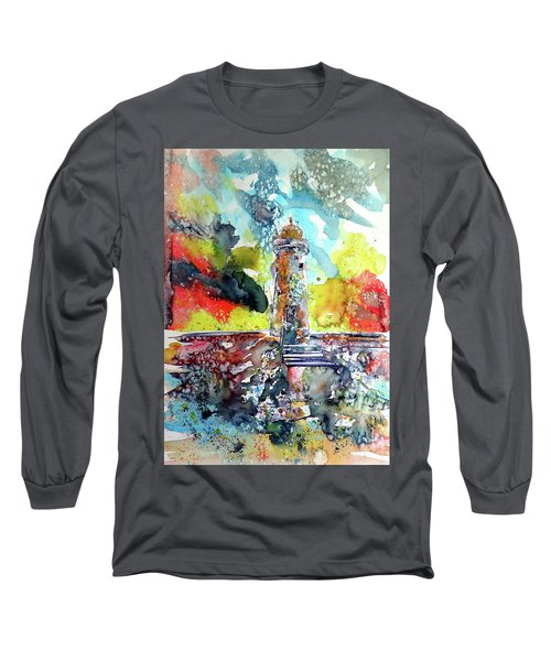 Lighthouse After Storm Long Sleeve T-Shirt by Kovacs Anna Brigitta