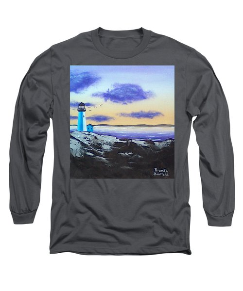 Lighthouse Long Sleeve T-Shirt by Brenda Bonfield