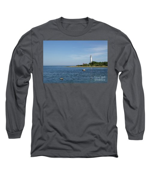 Long Sleeve T-Shirt featuring the photograph Lighthouse In The Baltic Sea by Kennerth and Birgitta Kullman