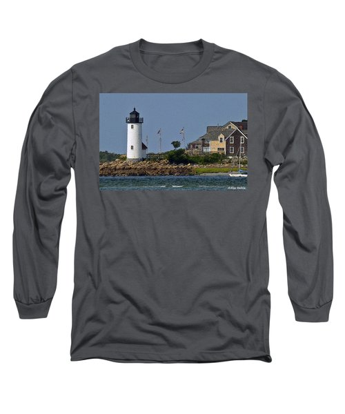 Lighthouse In The Ipswich Bay Long Sleeve T-Shirt by Alex Galkin