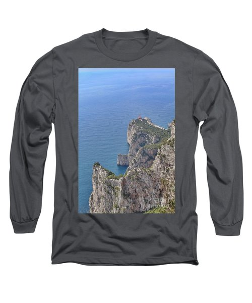 Lighthouse On The Cliff Long Sleeve T-Shirt