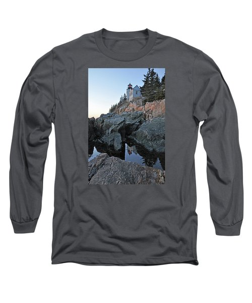 Long Sleeve T-Shirt featuring the photograph Lighthouse Reflection by Glenn Gordon