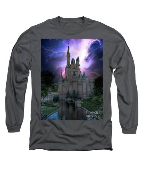 Lighting Over The Castle Long Sleeve T-Shirt