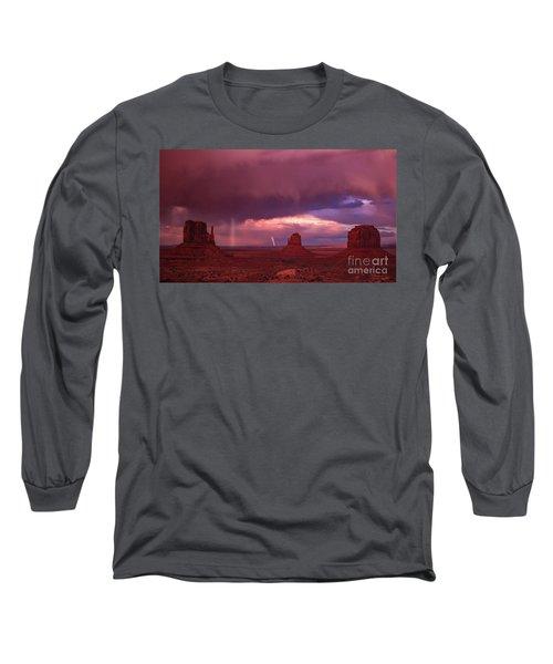 Lightning And Rainbow Long Sleeve T-Shirt