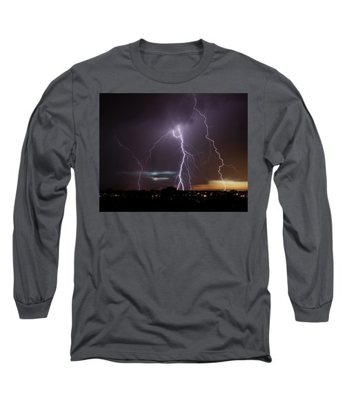 Lightning At Dusk Long Sleeve T-Shirt