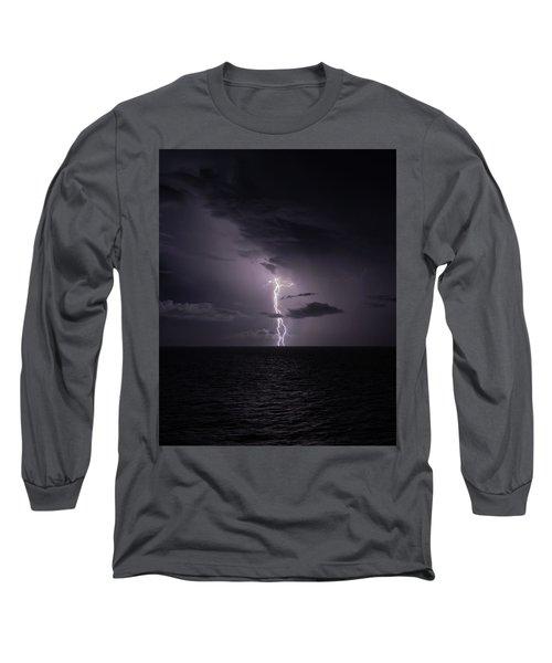 Lightning At Sea I Long Sleeve T-Shirt