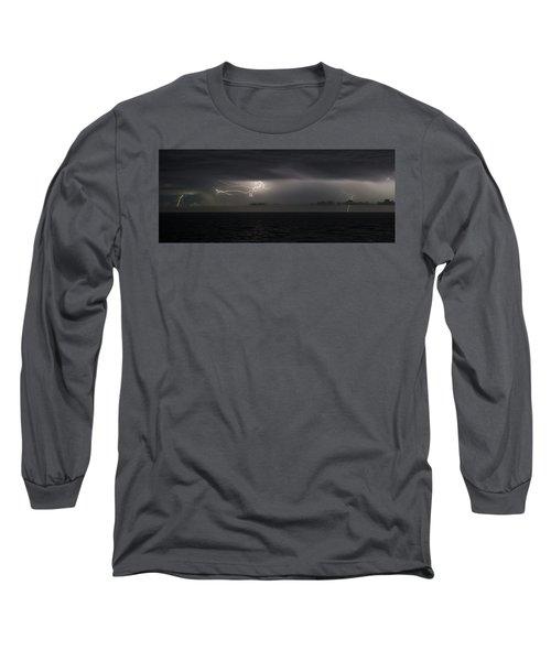 Lightning At Sea II Long Sleeve T-Shirt
