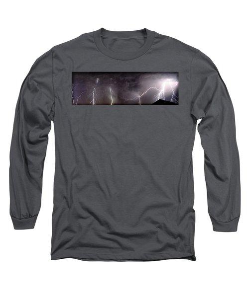 Lightning Over Perris Long Sleeve T-Shirt