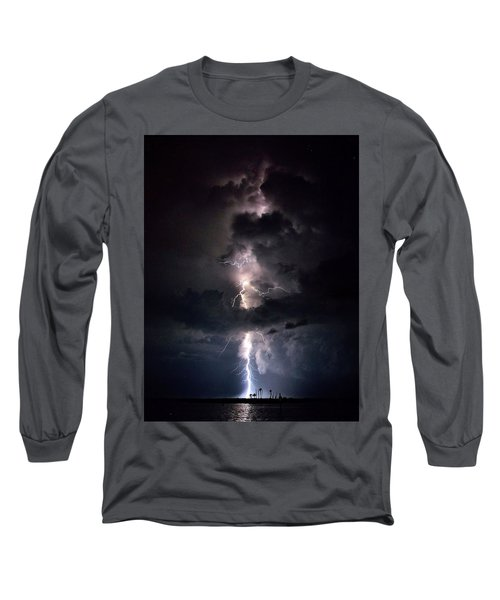 Long Sleeve T-Shirt featuring the photograph Lightning by Richard Zentner