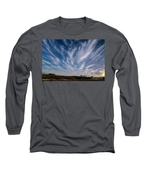 Long Sleeve T-Shirt featuring the photograph Like Feathers In The Sky by Arik Baltinester