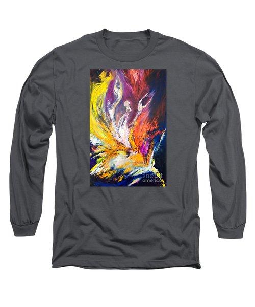 Like Fire In The Wind Long Sleeve T-Shirt by Marat Essex