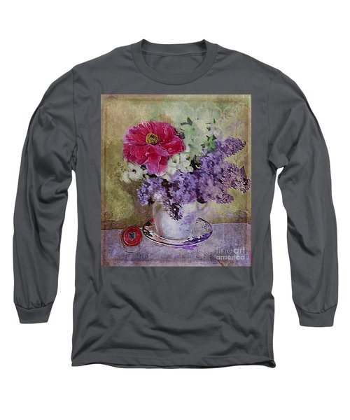 Lilac Bouquet Long Sleeve T-Shirt by Alexis Rotella