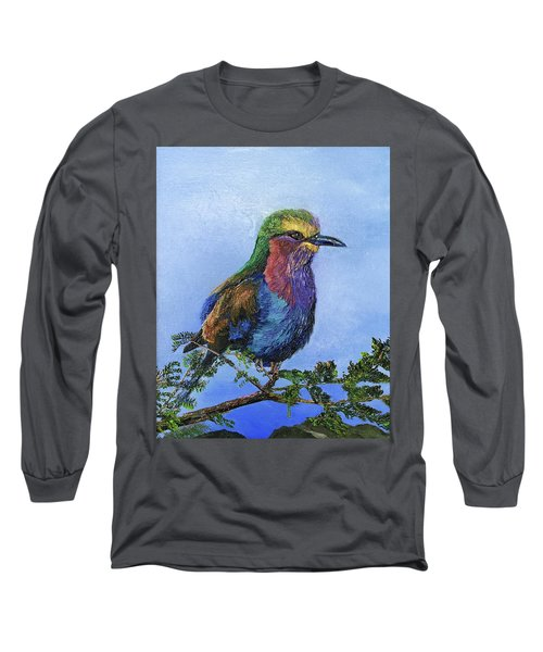 Lilac Breasted Roller Long Sleeve T-Shirt