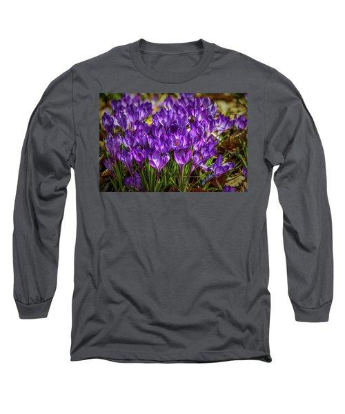 Lilac Crocus #g2 Long Sleeve T-Shirt by Leif Sohlman