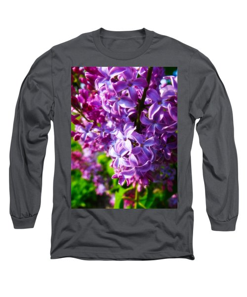 Lilac In The Sun Long Sleeve T-Shirt by Julia Wilcox