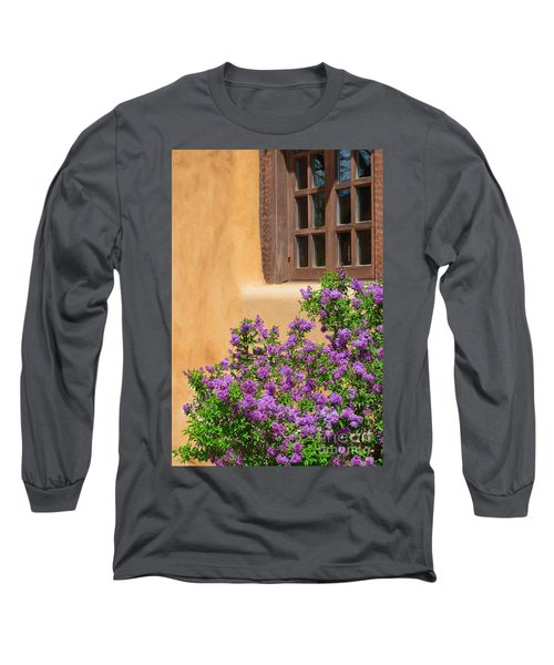 Lilacs And Adobe Long Sleeve T-Shirt by Catherine Sherman