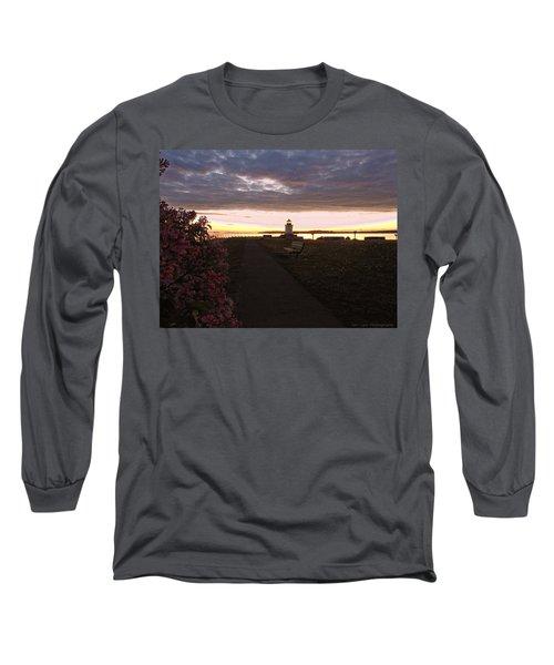 Lilacs At Portland Breakwater Light Long Sleeve T-Shirt