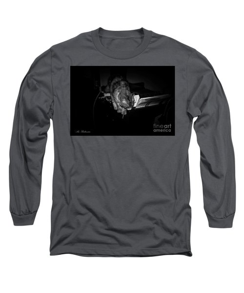 Long Sleeve T-Shirt featuring the photograph Lili At Night Activity by Arik Baltinester