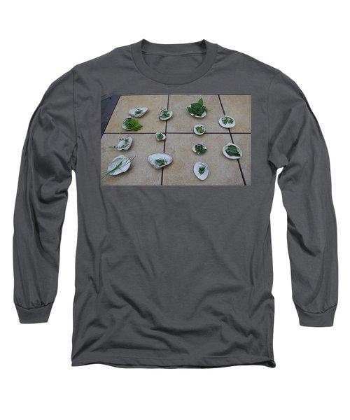 Lilly's Herb Seashore Seashells Long Sleeve T-Shirt by Greg Graham