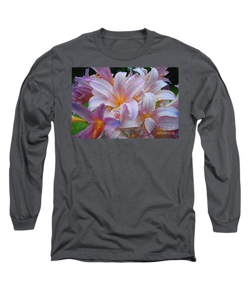 Lily Lavender Closeup Long Sleeve T-Shirt