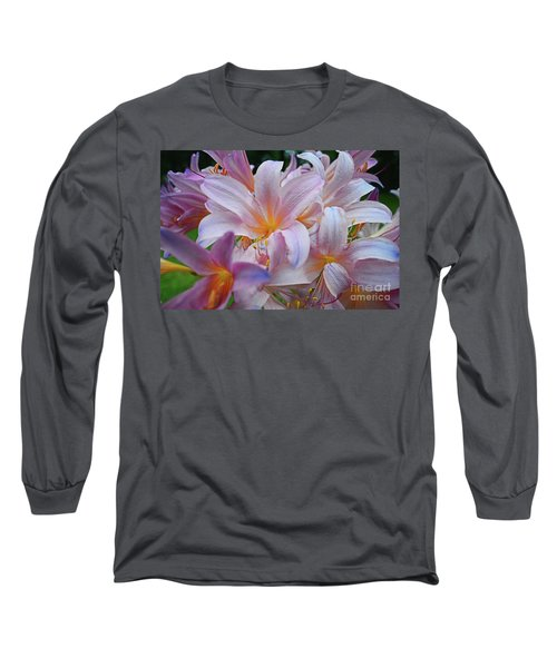 Lily Lavender Closeup Long Sleeve T-Shirt