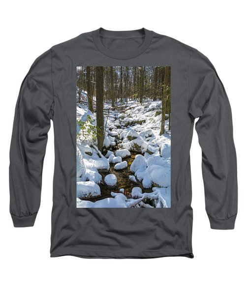 Lily Pads Of Snow Long Sleeve T-Shirt by Angelo Marcialis